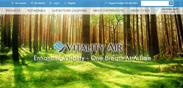 Vitality Air is selling bottled fresh air to China