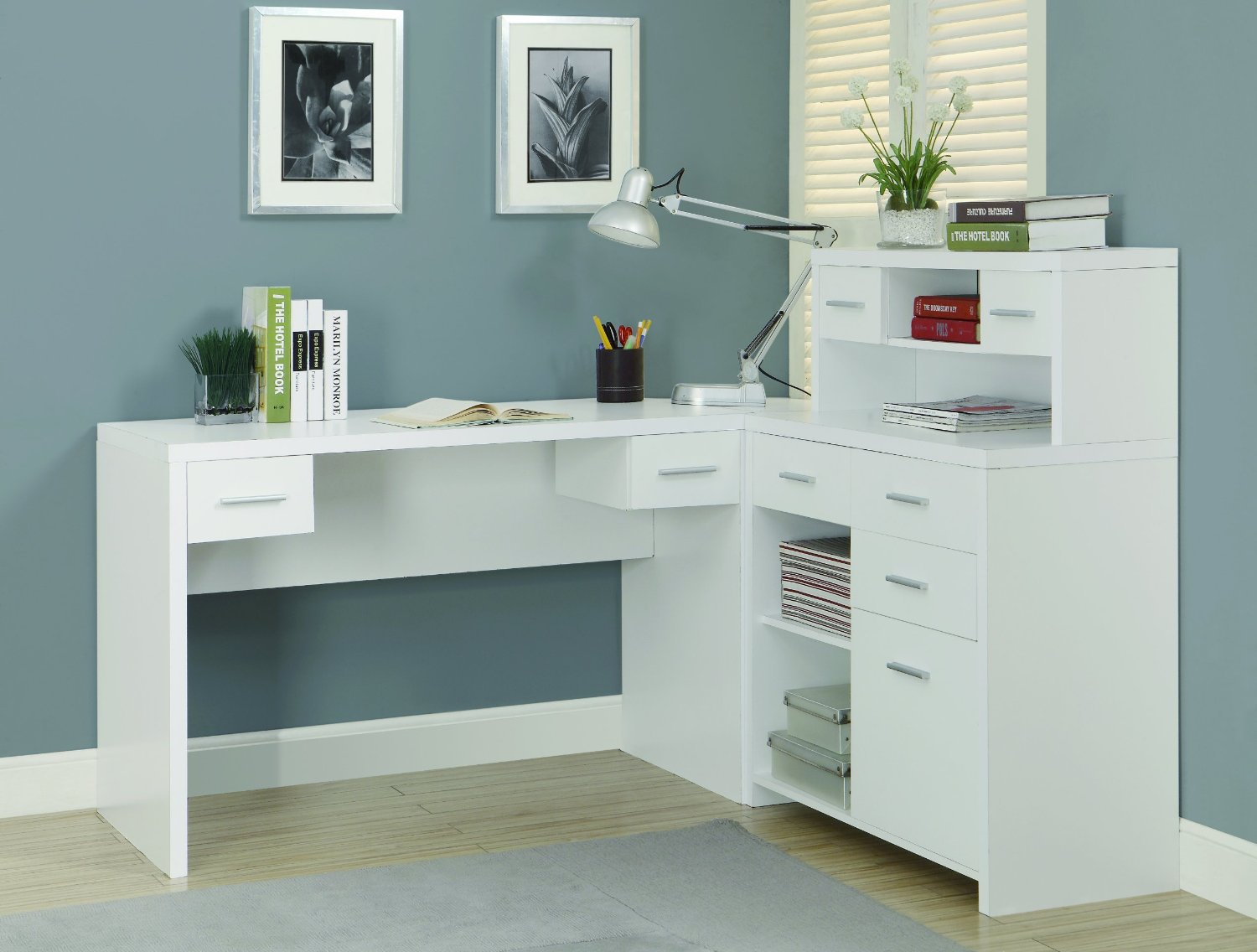 Popular L shaped home office desk