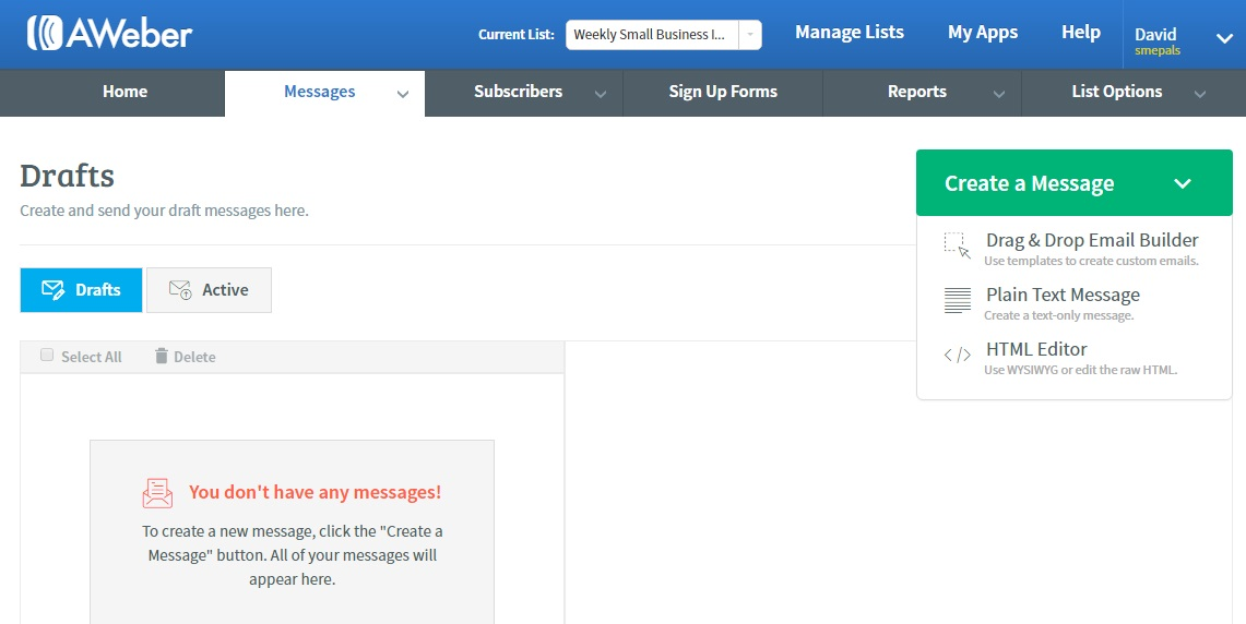 Create a new email message