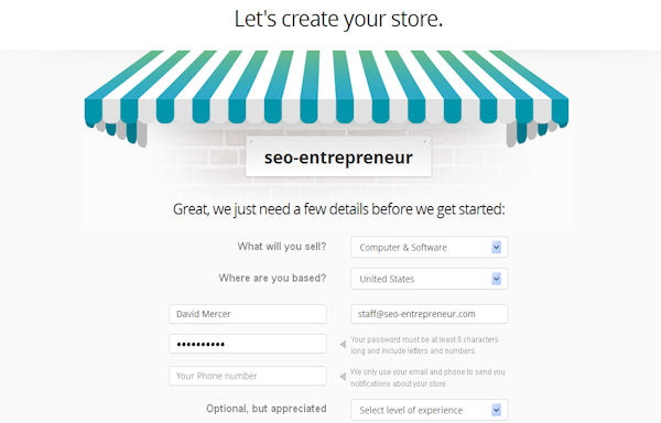 Creating your store with Bigcommerce