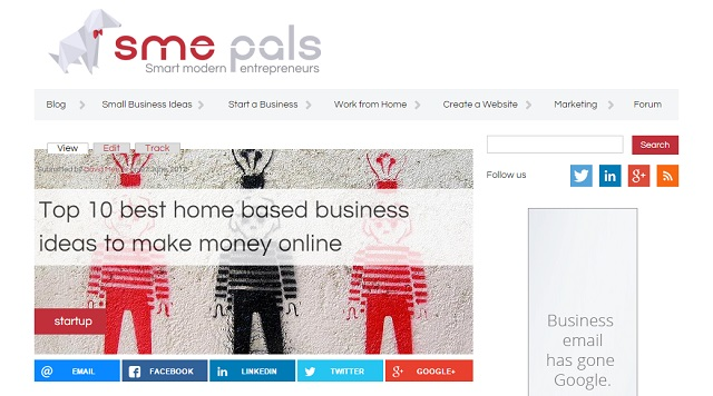 SME Pals highest earning blog post - $260 in ad revenue over 3 months