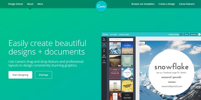 Canva provides professional design features for images and documents