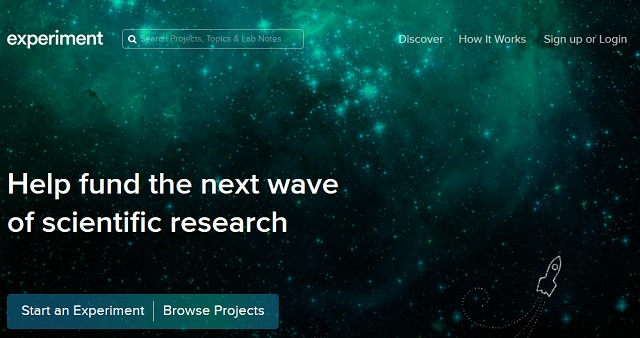 Experiment is a platform to crowdfund scientific experiments