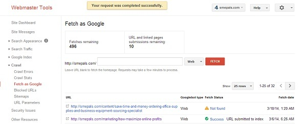 Fetch as google showing correct responses