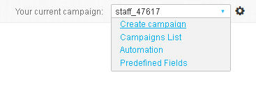 How to set a new campaign in GetResponse