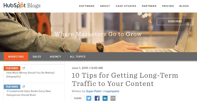 Tips for getting long term traffic