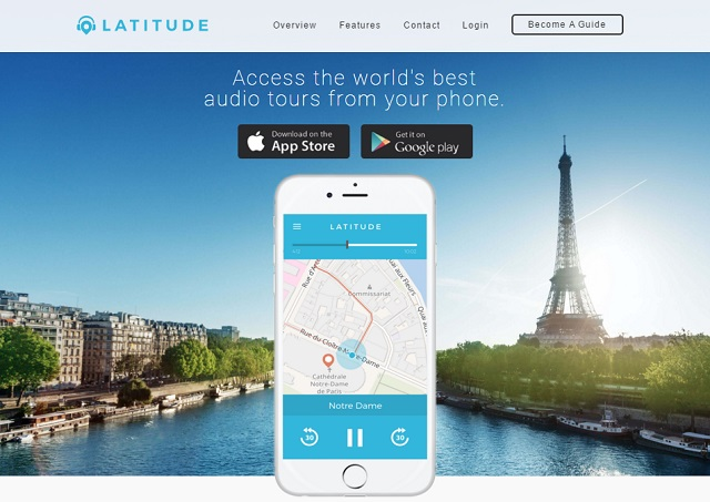 Latitude provides custom audio tours for anywhere in the world