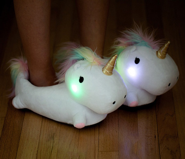 Kids slippers that light up in the dark