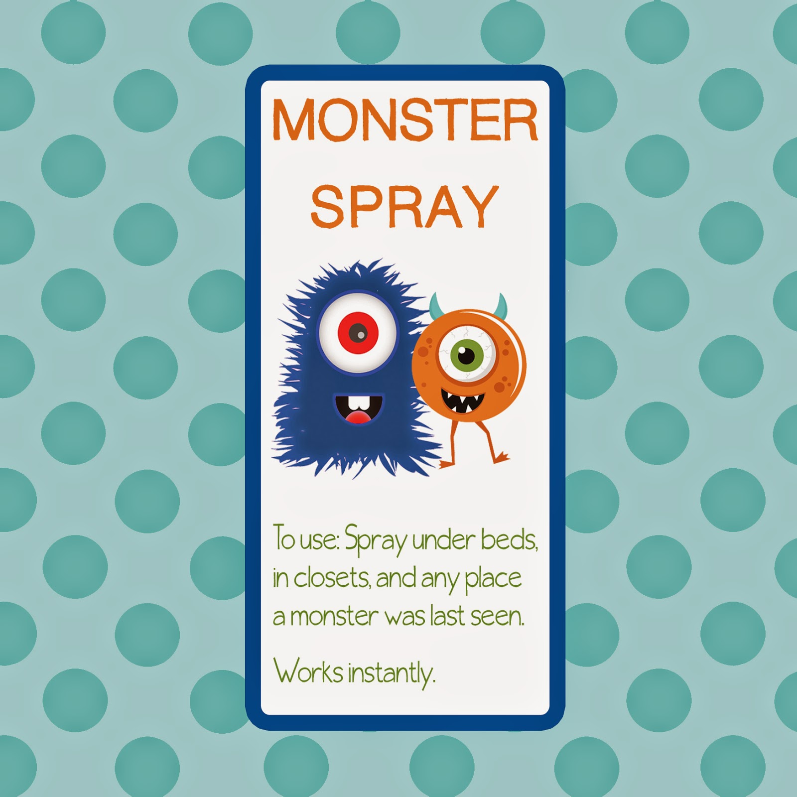 Design and sell monster spray for kids