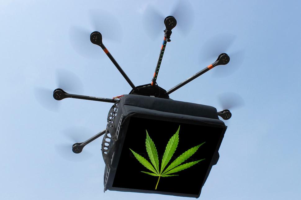 Prison drones delivery