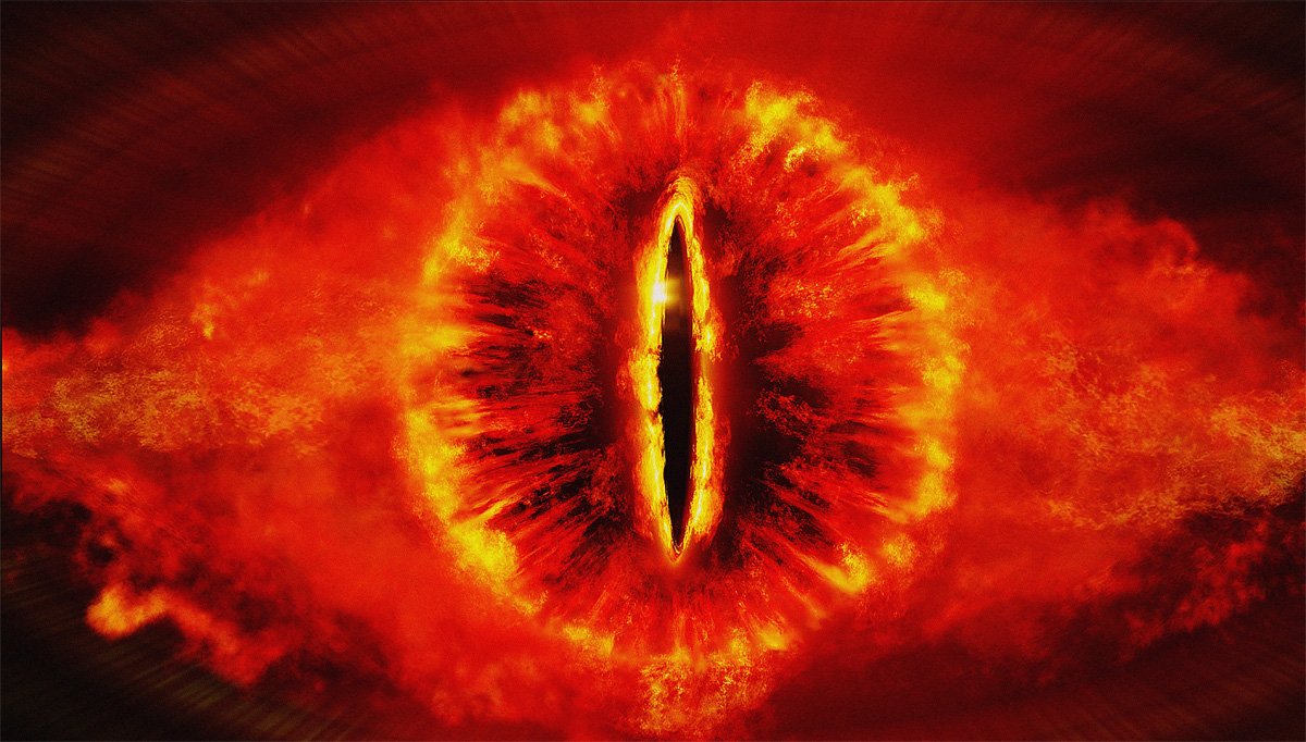 Social networks have beams of focus like the eye of Sauron