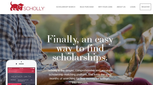 scholly is an app to easily find scholarships