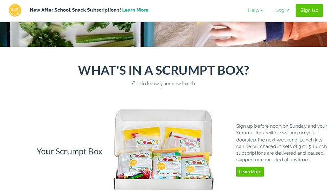 Scrumptbox delivers low cost lunch meals for kids