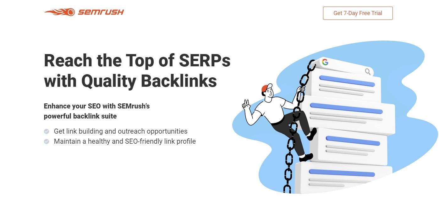 SEMRush backlink analysis
