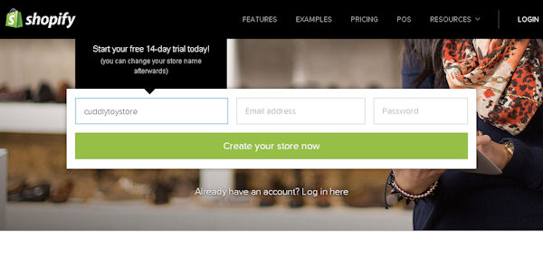Shopify 14 day free trial