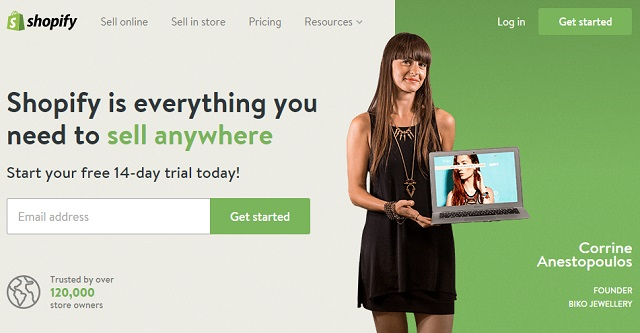Shopify responsive eCommerce site builder