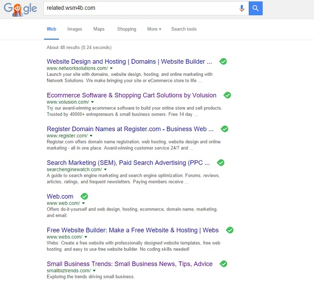 Ad placeholder domain showing high value related sites