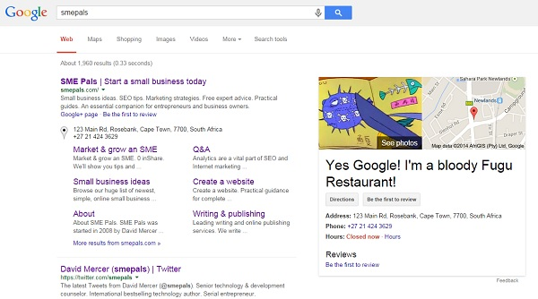 Google search showing incorrect business listing