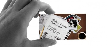 Design business cards. Pic by Shubham