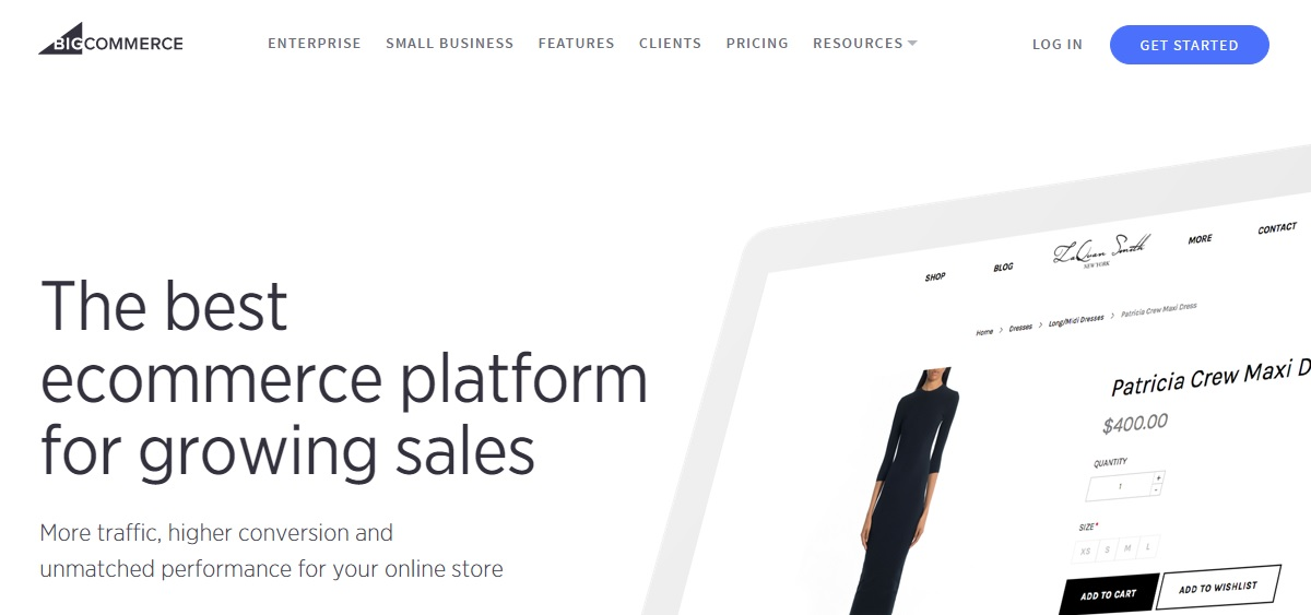 Bigcommerce online shopping cart website builder