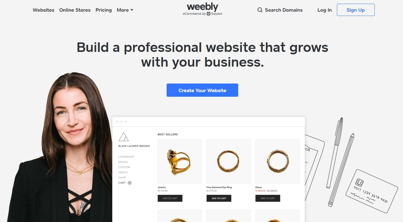 Create a professional website with Weebly