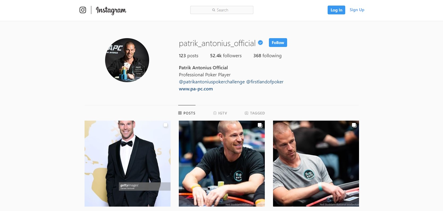 Patrik Antonius has earned $17 million from online poker