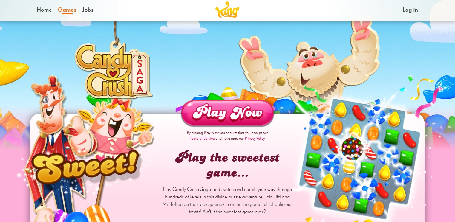 King's Candy Crush earned them over $500 million in 2013