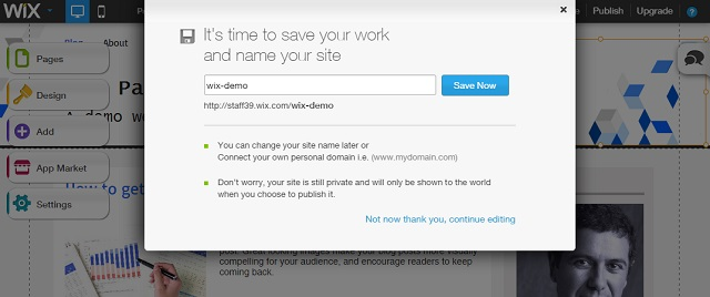 save the site template